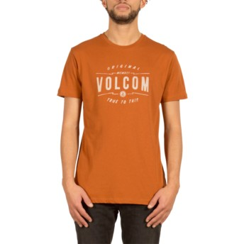 T-shirt à manche courte marron Garage Club Copper Volcom