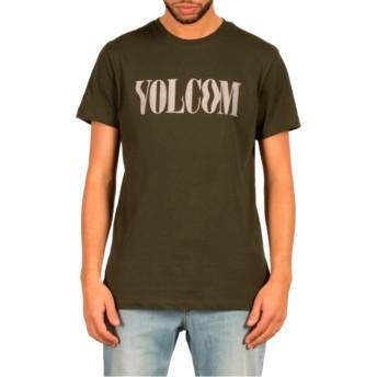 T-shirt à manche courte vert Weave Dark Green Volcom