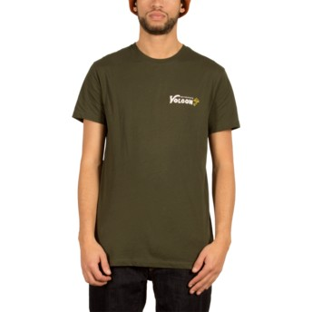 T-shirt à manche courte vert Shroomy Dark Green Volcom
