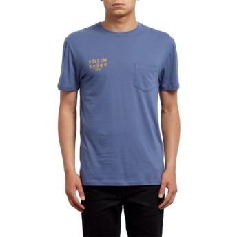 T-shirt à manche courte bleu Hellacin Deep Blue Volcom