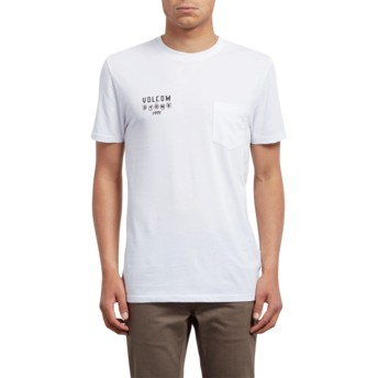 T-shirt à manche courte blanc Hellacin White Volcom