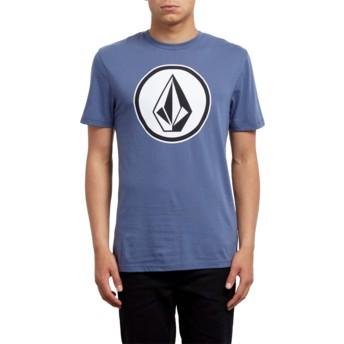 T-shirt à manche courte bleu Classic Stone Deep Blue Volcom