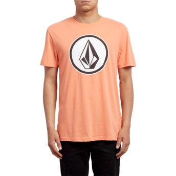 T-shirt à manche courte orange Classic Stone Salmon Volcom