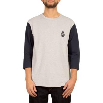T-shirt à manche 3/4 gris Chain Gang Heather Grey Volcom