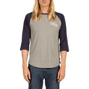 T-shirt à manche 3/4 gris et bleu marine Swift Indigo Volcom