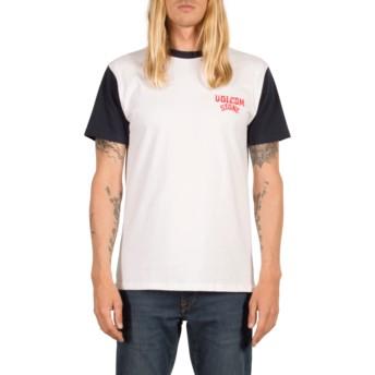 T-shirt à manche courte blanc et bleu marine Washer Navy Volcom