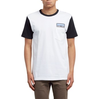 T-shirt à manche courte blanc et noir Angular Black Volcom