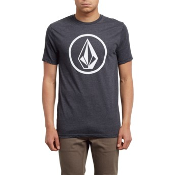 T-shirt à manche courte noir Circle Stone Heather Black Volcom