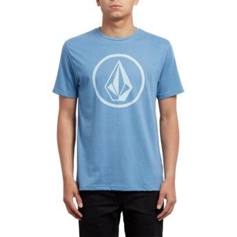 T-shirt à manche courte bleu Circle Stone Wrecked Indigo Volcom