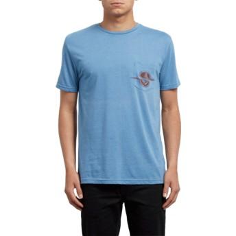 T-shirt à manche courte bleu Rip Pocket Wrecked Indigo Volcom