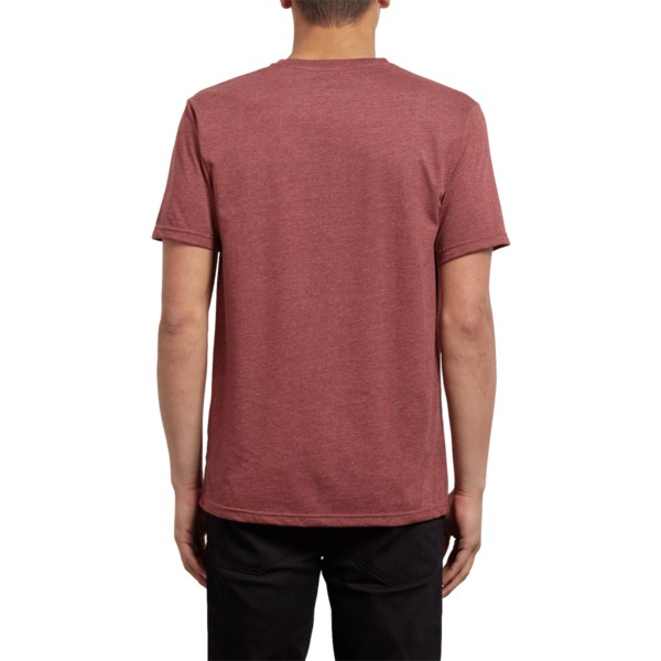 t-shirt-a-manche-courte-rouge-pocket-crimson-volcom