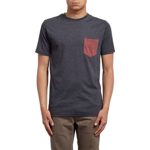 t-shirt-a-manche-courte-noir-pocket-heather-black-volcom