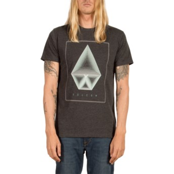 T-shirt à manche courte noir Concentric Heather Black Volcom
