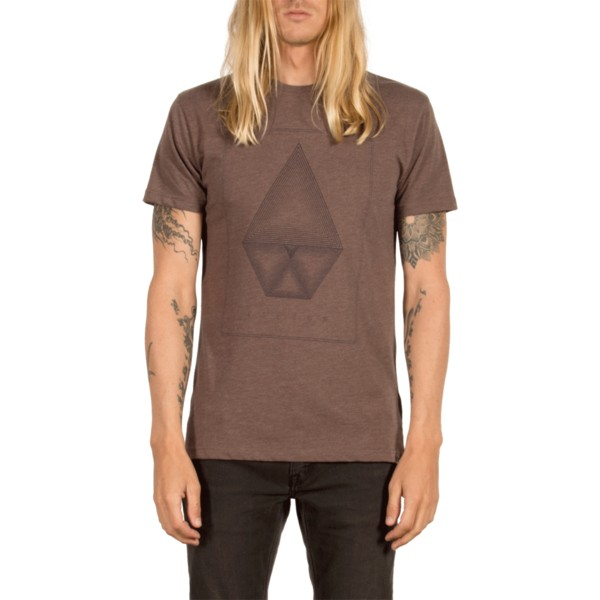 t-shirt-a-manche-courte-marron-concentric-plum-volcom