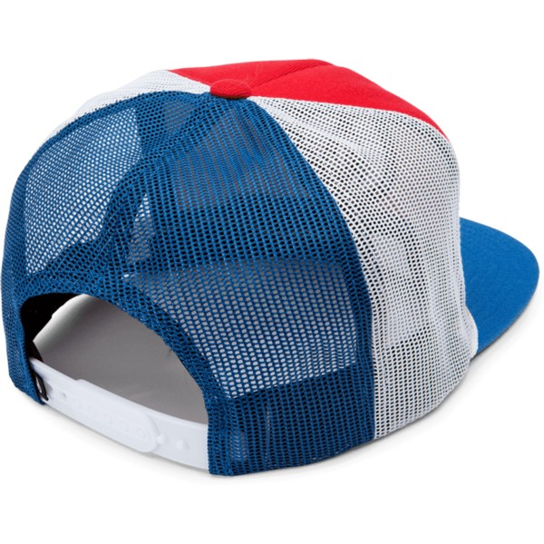 casquette-trucker-rouge-blanche-et-bleue-dually-cheese-motorhead-red-volcom