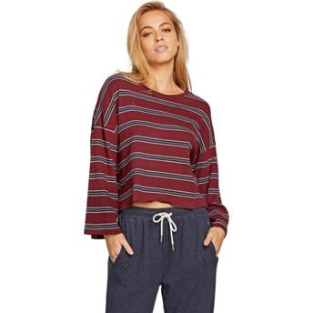 T-shirt à manche longue rouge Lil Zinfandel Volcom