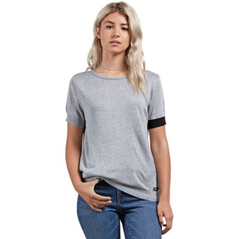 T-shirt à manche courte gris Simply Stone Heather Grey Volcom