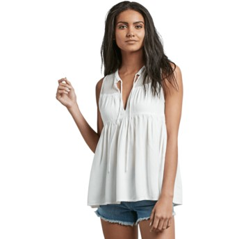 Blouse à manche courte blanche Sea Y'around Star White Volcom