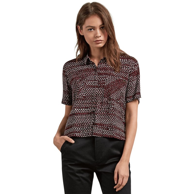 chemise-a-manche-courte-rouge-stone-resort-burgundy-volcom