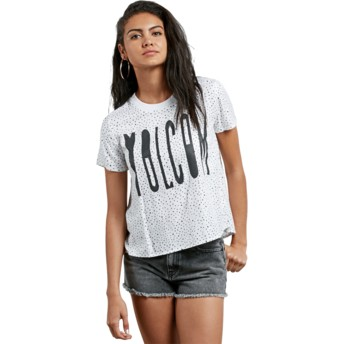 T-shirt à manche courte blanc Mix A Lot Star White Volcom
