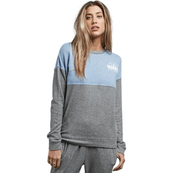 Sweat-shirt bleu et gris Lil Charcoal Grey Volcom