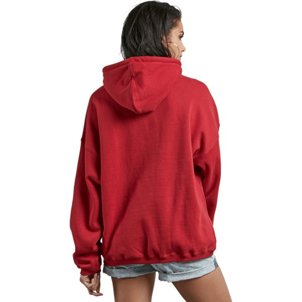 sweat-a-capuche-rouge-roll-it-up-chili-red-volcom