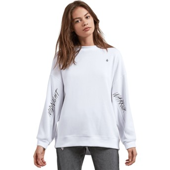Sweat-shirt blanc Darting Traffic White Volcom