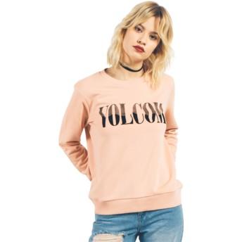 Sweat-shirt orange Sound Check Mellow Rose Volcom