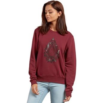 Sweat-shirt rouge Sound Check Burgundy Volcom