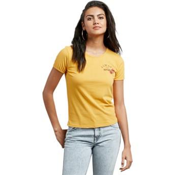 T-shirt à manche courte jaune Don't Even Trip Citrus Gold Volcom