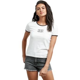 T-shirt à manche courte blanc Don't Even Trip White Volcom