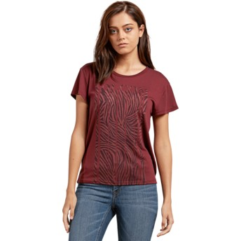 T-shirt à manche courte rouge Easy Babe Rad 2 Burgundy Volcom