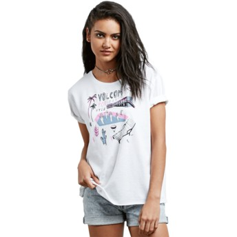 T-shirt à manche courte blanc Ride The Stone White Volcom