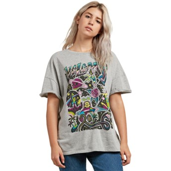 T-shirt à manche courte gris Stone Splif Heather Grey Volcom