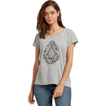 T-shirt à manche courte gris avec des plumes Radical Daze Heather Grey Volcom