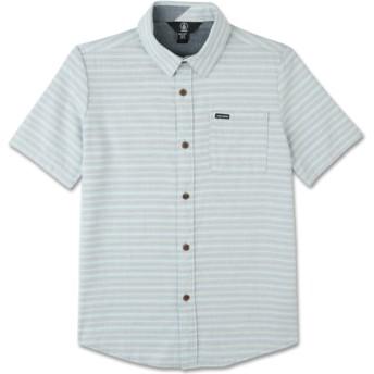 Chemise à manche courte grise pour enfant Eastport Chambray Wrecked Indigo Volcom