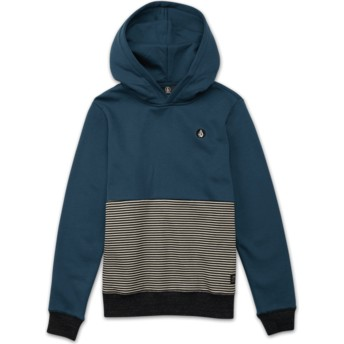 Sweat à capuche bleu pour enfant Threezy Navy Green Volcom