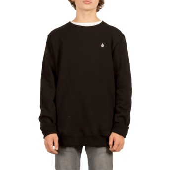 Sweat-shirt noir pour enfant Single Stone Black Volcom