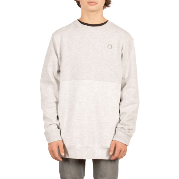 sweat-shirt-gris-pour-enfant-single-stone-division-mist-volcom