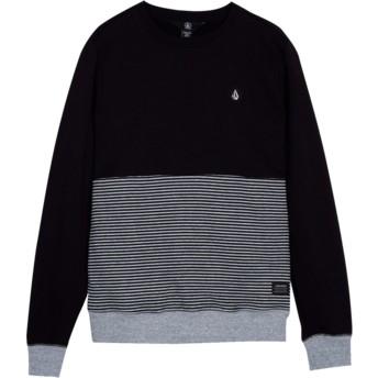 Sweat-shirt noir pour enfant Threezy Black Volcom