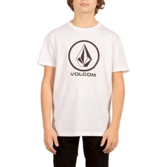 T-shirt à manche courte blanc pour enfant Circle Stone White Volcom
