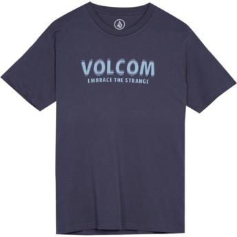 T-shirt à manche courte bleu marine pour enfant The Stranger Midnight Blue Volcom