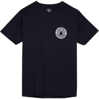 T-shirt à manche courte noir pour enfant Volcomsphere Black Volcom