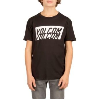 T-shirt à manche courte noir pour enfant Chopper Black Volcom