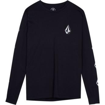 T-shirt à manche longue noir pour enfant Deadly Stone Black Volcom