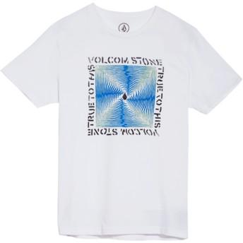T-shirt à manche courte blanc pour enfant Stoneradiator White Volcom