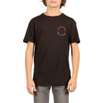 T-shirt à manche courte noir pour enfant Base Black Volcom