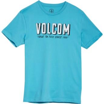T-shirt à manche courte bleu pour enfant Camp Blue Bird Volcom