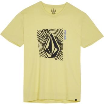 T-shirt à manche courte jaune pour enfant Stonar Waves Acid Yellow Volcom