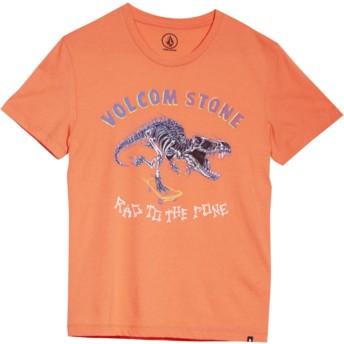 T-shirt à manche courte rouge pour enfant Rad Rex Salmon Volcom